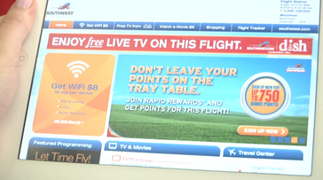 'TV Flies Free' on Southwest Airlines Compliments of DISH