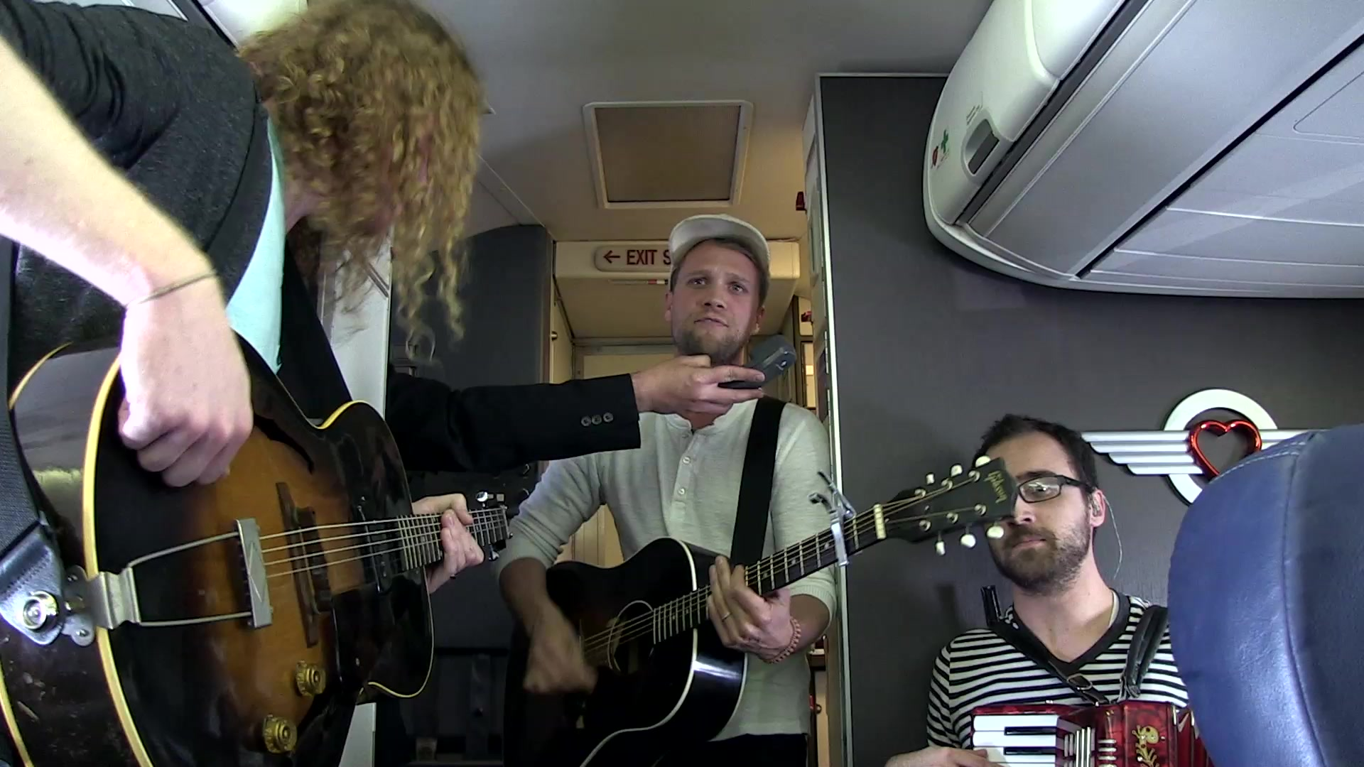 Southwest Airlines Live@35 Inflight Concert by artist Andrew Ripp aboard a Burbank to Oakland flight