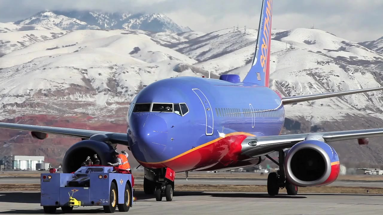 AIRCRAFT OPERATIONS: Daytime broll at Denver and San Diego
